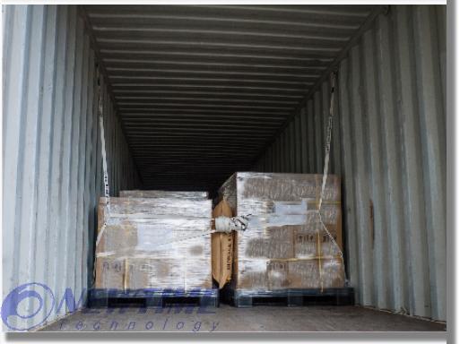 兩條固定式貨櫃網使用圖示--未滿櫃
