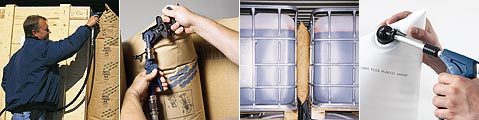 BATES貨櫃充氣袋360度能充氣操作輕鬆方便
