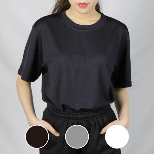 經典圓領短袖排汗衣-黑色/灰色/白色-
