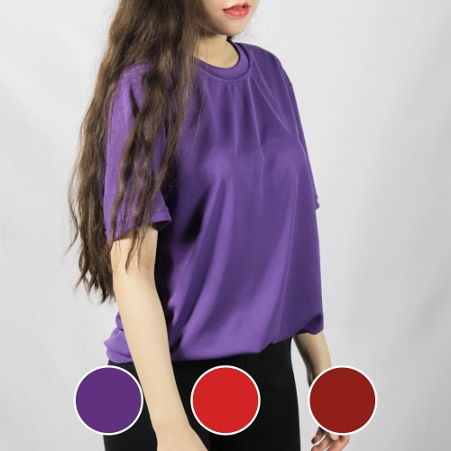 經典圓領短袖排汗衣-紫色/紅色/棗紅色-